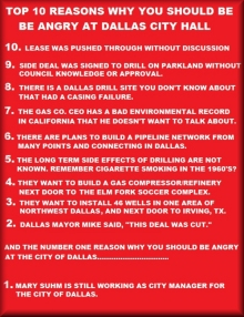 Top Ten Reasons to Be Angry at Dallas City Hall